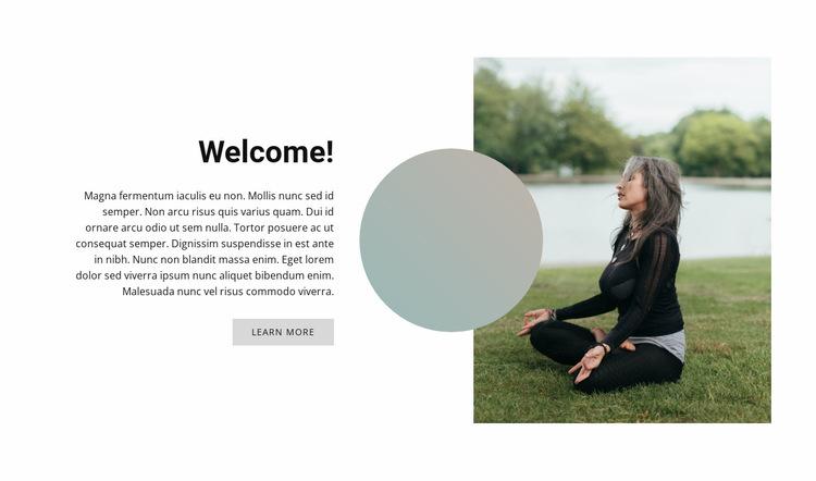 Outdoor yoga Website Builder Templates