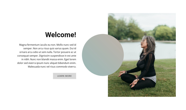 Outdoor yoga Website Builder Software