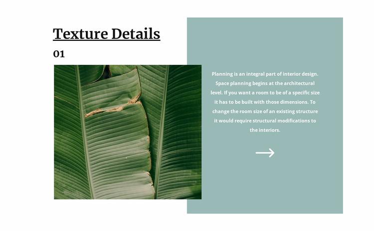 Tropical texture Website Mockup