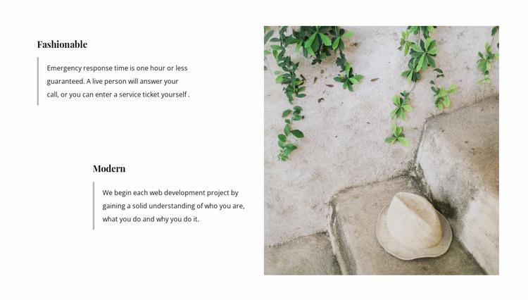 Design advantages Website Template