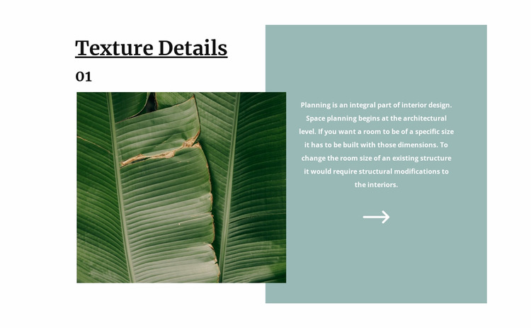 Tropical texture WordPress Website Builder