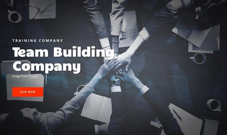 Team building company Web Page Designer
