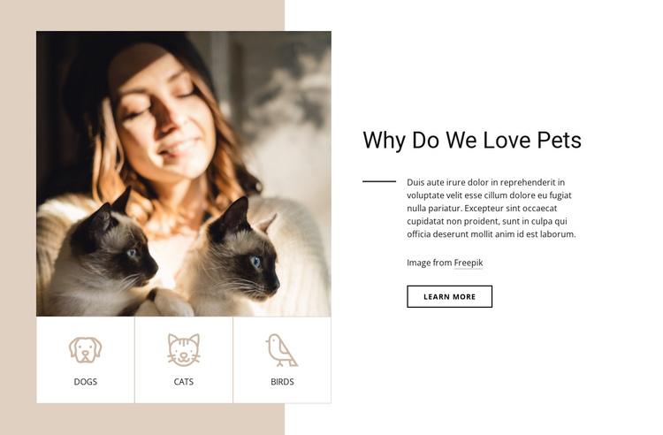 Why do we love pets Website Builder Software