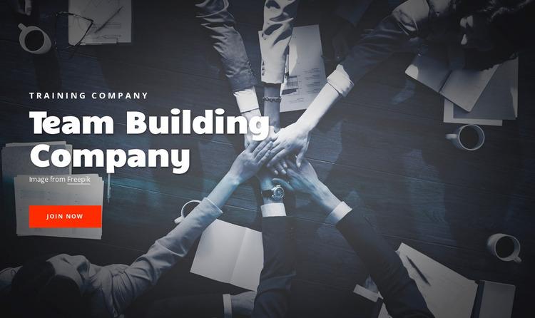Team building company Website Mockup