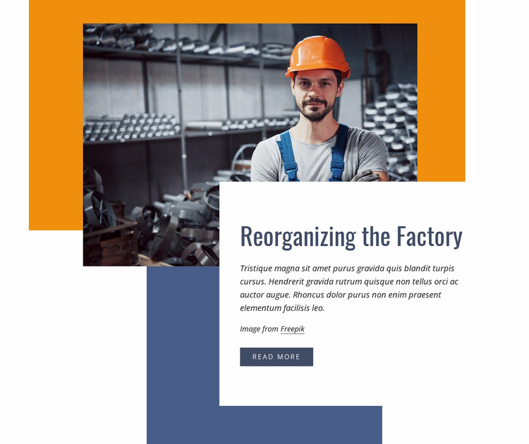 Reorganizing the factory Website Design