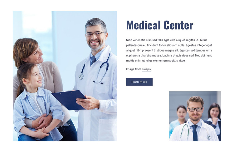 Highest quality of clinical care HTML Template