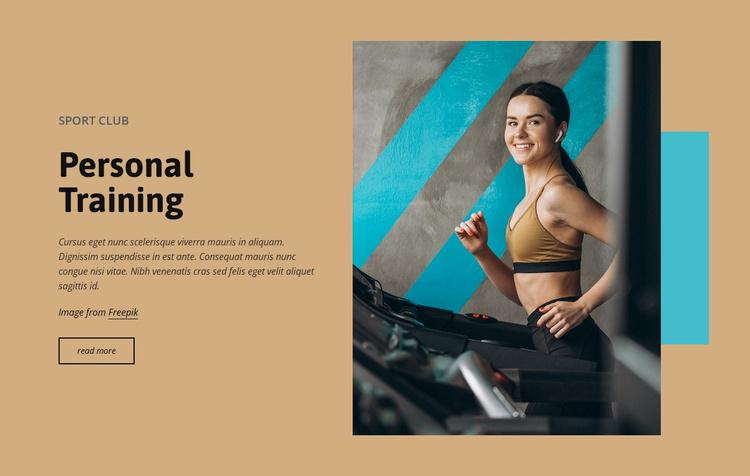 Luxury personal training Website Template