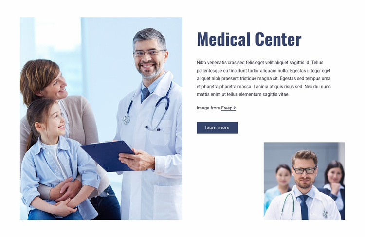 Highest quality of clinical care Website Template