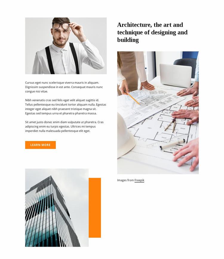 Architecture techniques WordPress Website Builder