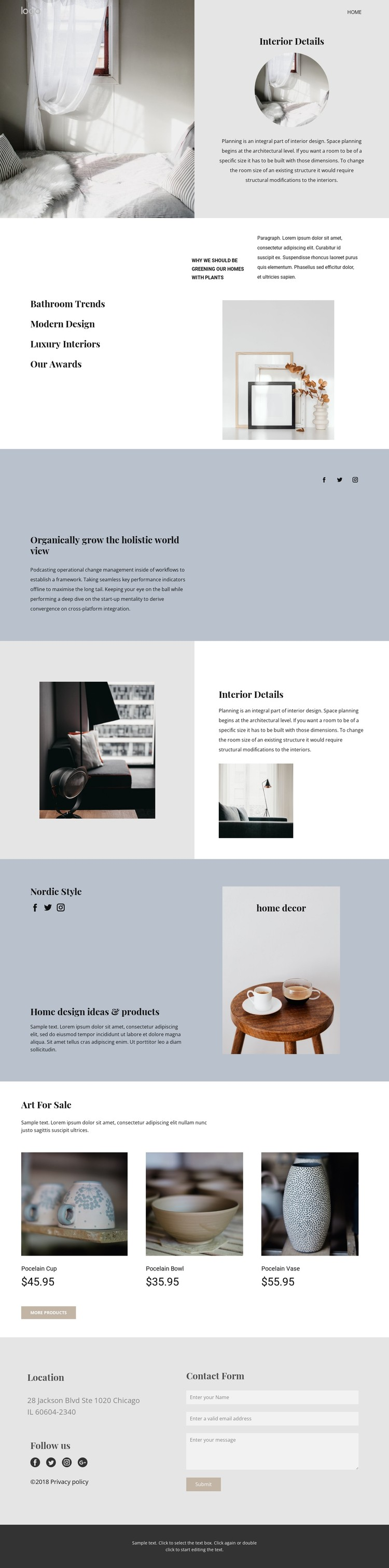 Design your home from scratch CSS Template