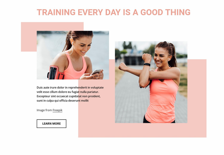 Training every day is a good thing Html Website Builder