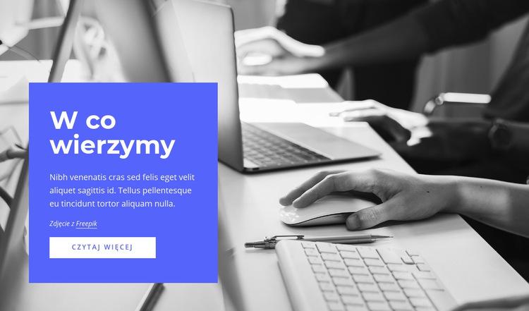 Strategia, marketing, organizacja Szablon witryny sieci Web