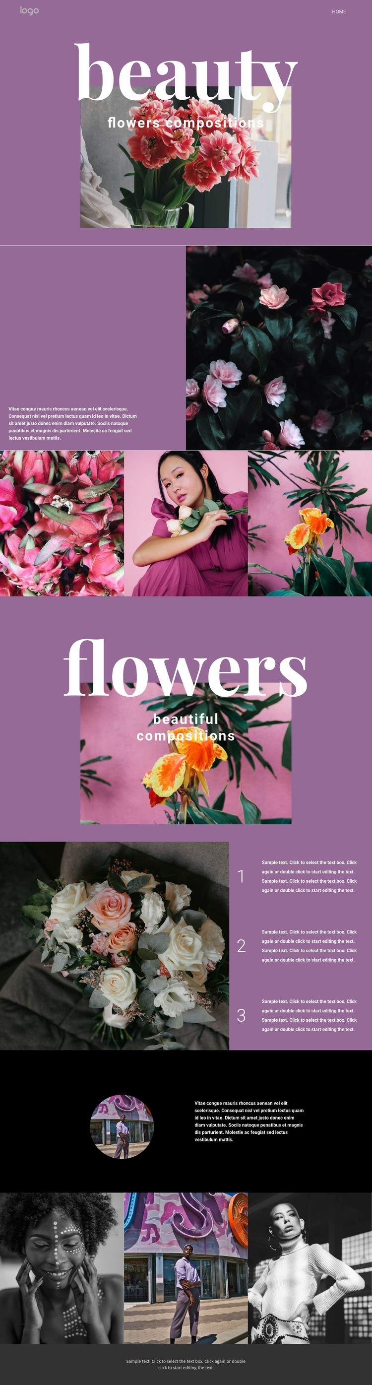 Flower salon Web Page Design