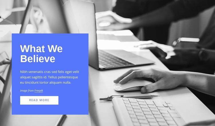 Strategy, marketing, organization Web Page Designer