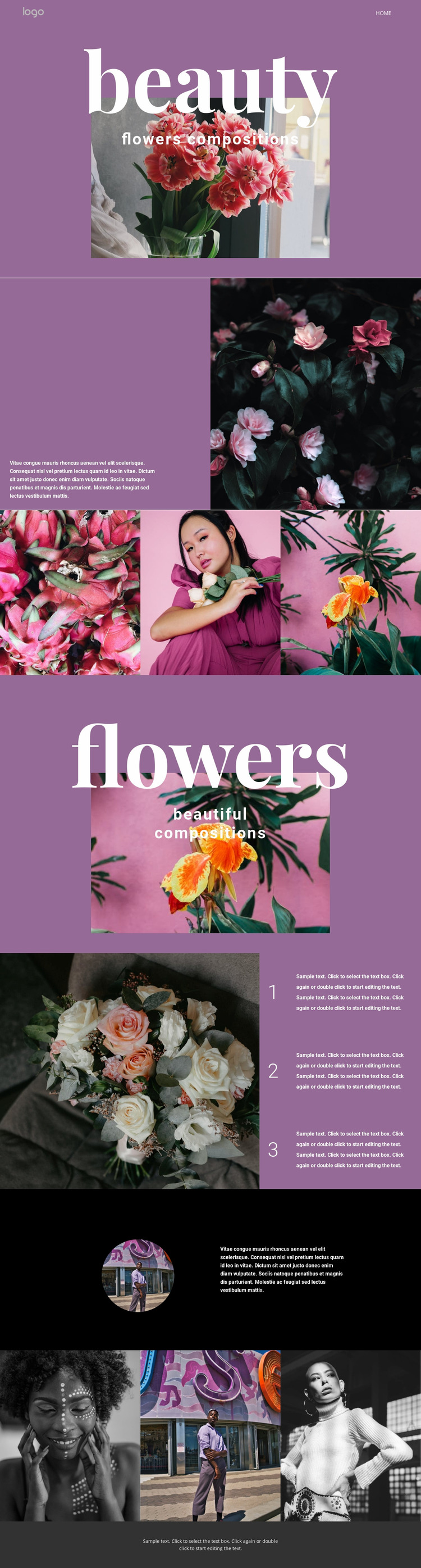 Flower salon Website Mockup