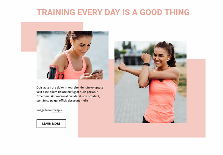 Training every day is a good thing WordPress Website Builder
