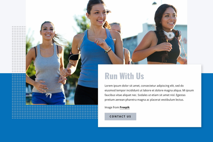 Run with our club Html Website Builder