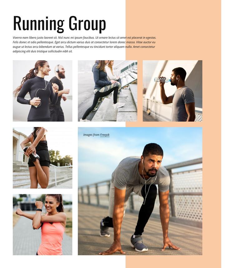 Running group Joomla Template