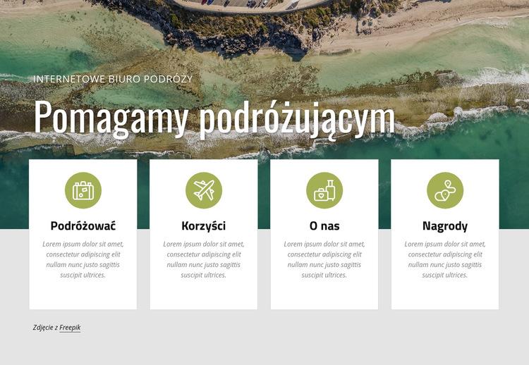 Zaplanuj z nami wakacje Szablon witryny sieci Web