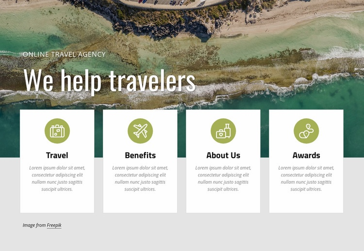 Plan a vacation with us Web Page Design