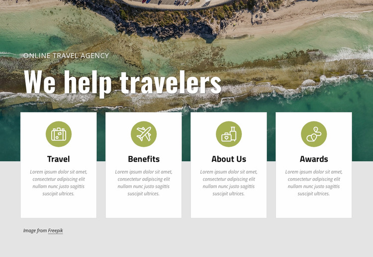 Plan a vacation with us Website Mockup