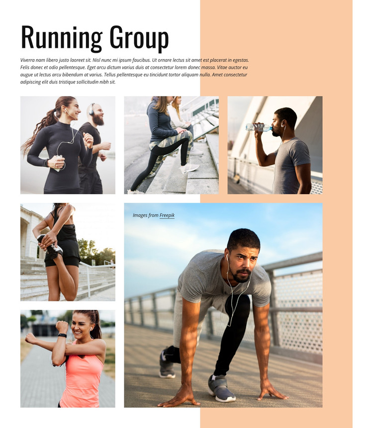 Running group WordPress Theme