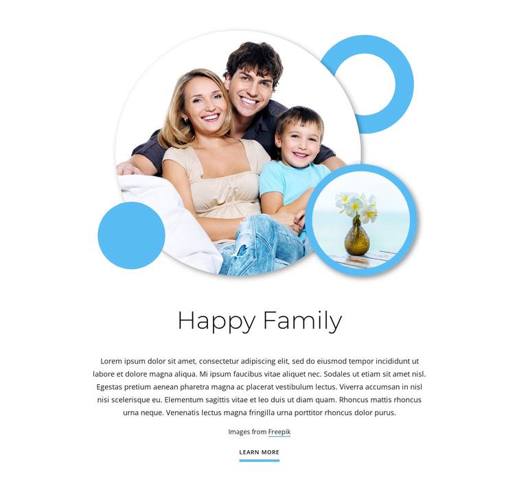 Happy family articles WordPress Theme