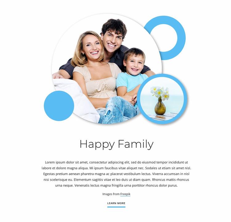 Happy family articles WordPress Website Builder