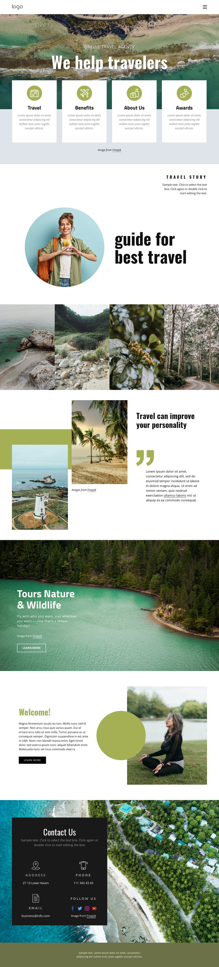 We help manage your trip HTML5 Template