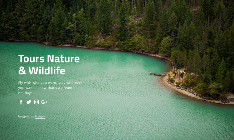 Tours nature and widlife Joomla Page Builder