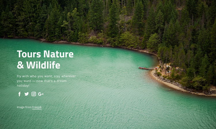 Tours nature and widlife Landing Page