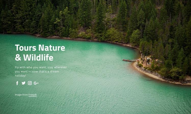 Tours nature and widlife WordPress Website