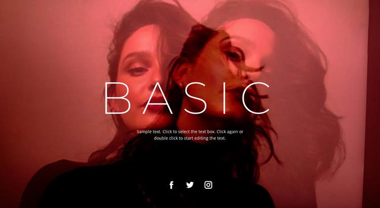 Base unit Website Mockup