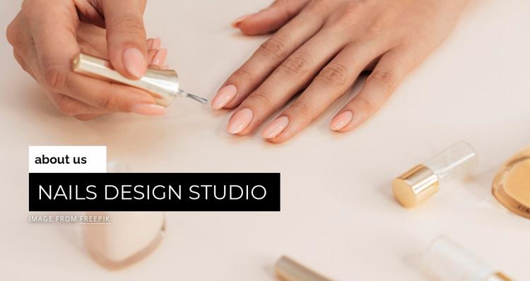 Nails design studio Website Template