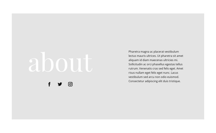 Information about our start HTML5 Template
