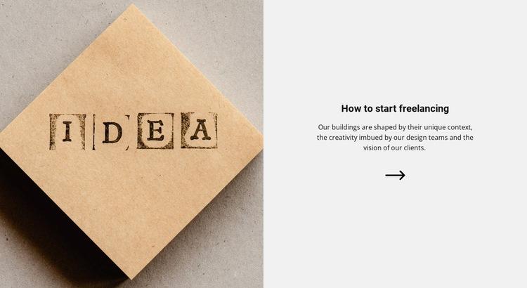 New ideas for development Web Page Design