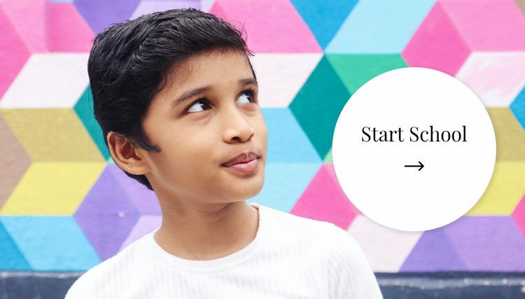Start school Website Mockup
