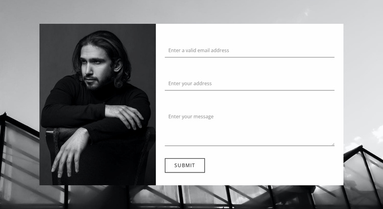 Clarify all information Website Template
