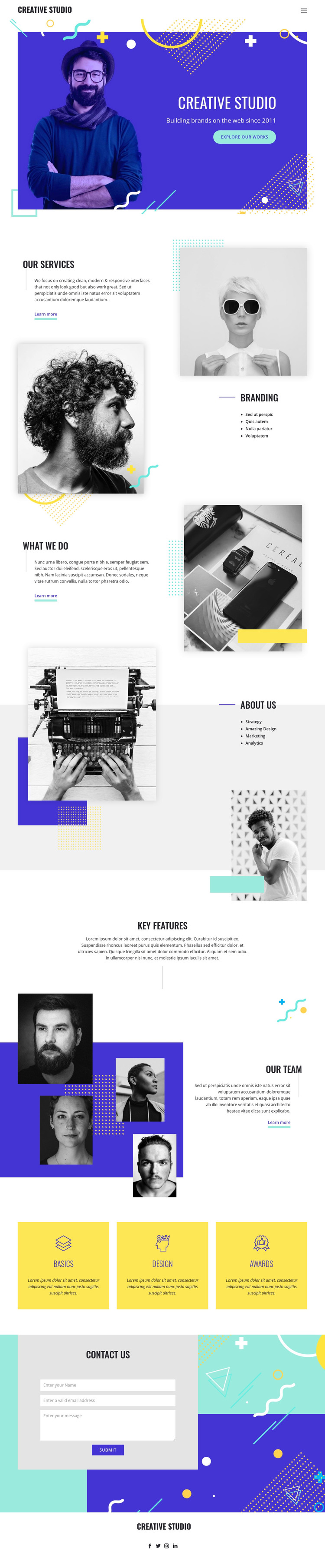 We make your brand well-defined HTML Template