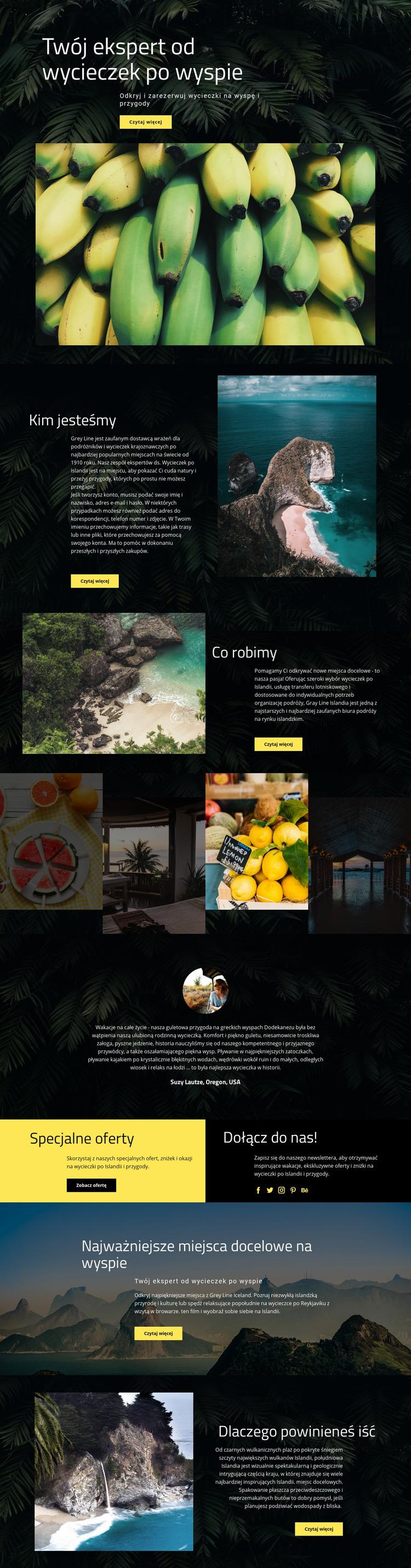 Island Travel Szablon Joomla