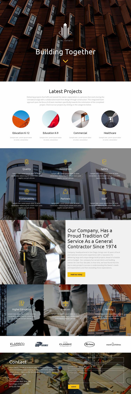 Building Html Website Builder