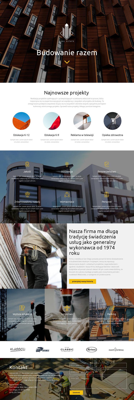 Budynek Szablon witryny sieci Web