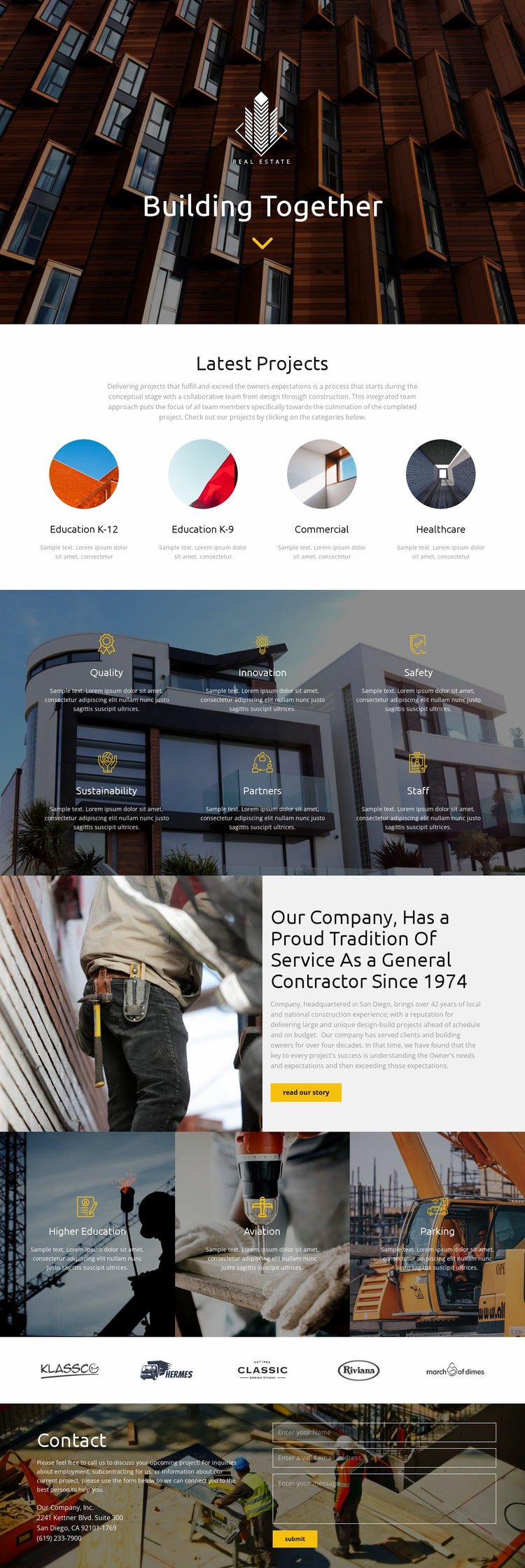 Building Landing Page
