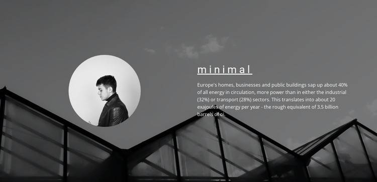 Minimum solutions maximum result CSS Template