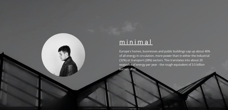 Minimum solutions maximum result Homepage Design