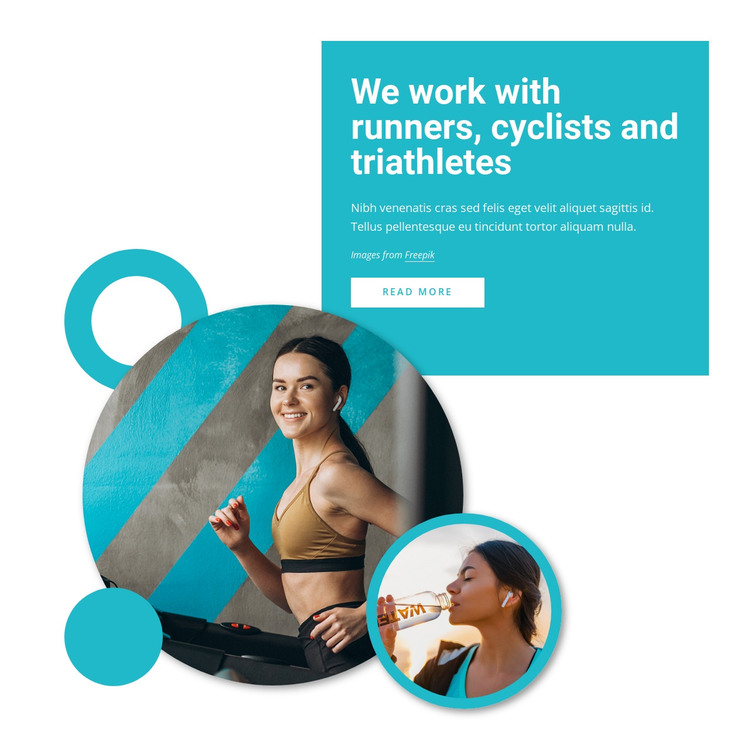 We work with runners HTML Template