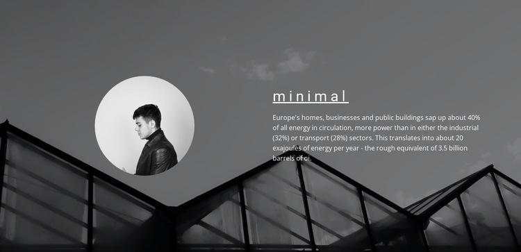 Minimum solutions maximum result HTML5 Template