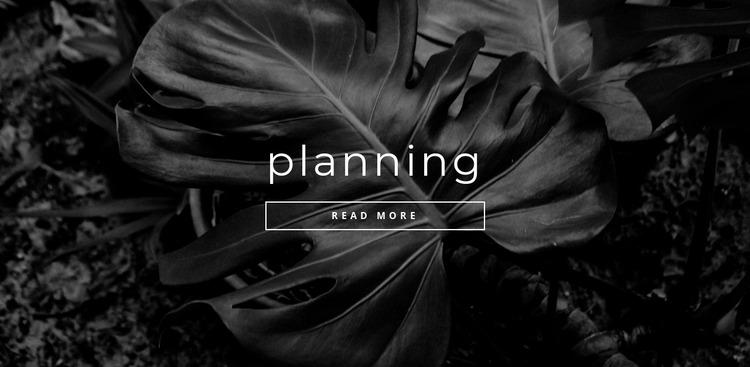Planning your time Website Mockup
