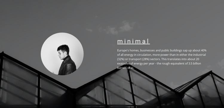 Minimum solutions maximum result Website Template