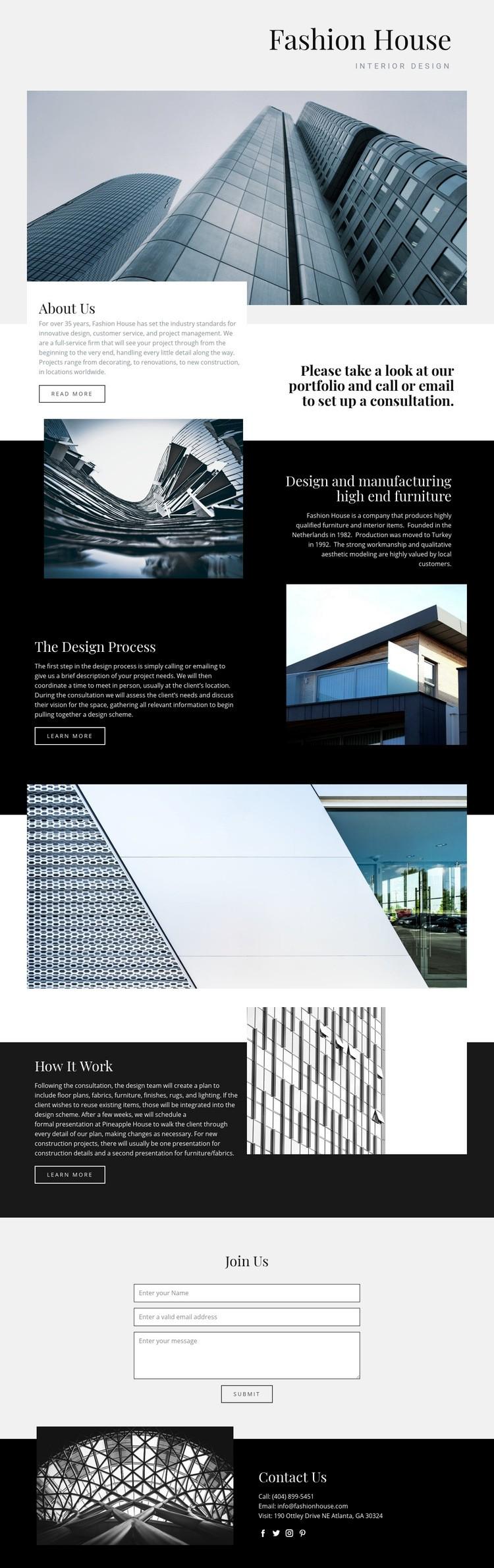 Fashion House Html Code Example